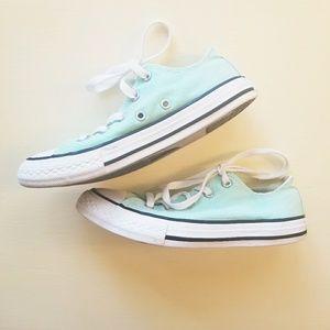 Converse sea foam green sneakers